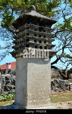 Pigeon nest or tower used by homing communication pigeons Delft Pasuthivu or Nedunthivu Sri Lanka - Stock Photo