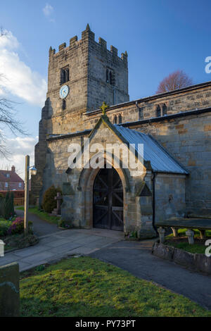 St. John The Baptist and All saints' Church in Easingwold, North Yorkshire - Stock Photo