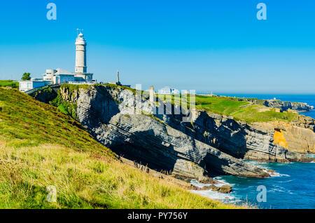 Cabo Mayor lighthouse. Santander, Cantabria, Spain, Europe - Stock Photo