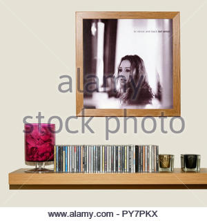 CD Collection and framed Tori Amos 1999 album, To Venus and Back, England - Stock Photo