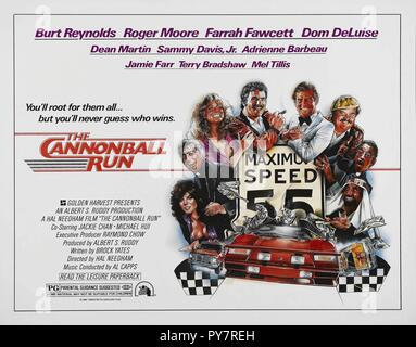 Original film title: THE CANNONBALL RUN. English title: CANNONBALL RUN. Year: 1981. Director: HAL NEEDHAM. Credit: 20TH CENTURY FOX/GOLDEN HARVEST / Album - Stock Photo