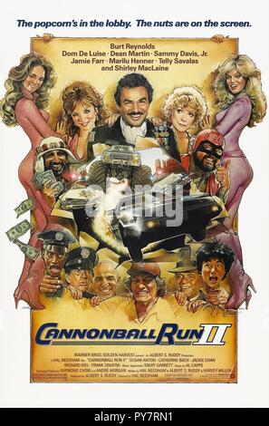 Original film title: CANNONBALL RUN II. English title: CANNONBALL RUN II. Year: 1984. Director: HAL NEEDHAM. Credit: GOLDEN HARVEST/WARNER / Album - Stock Photo