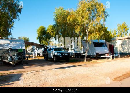 Recreational Caravan Park - Stock Photo