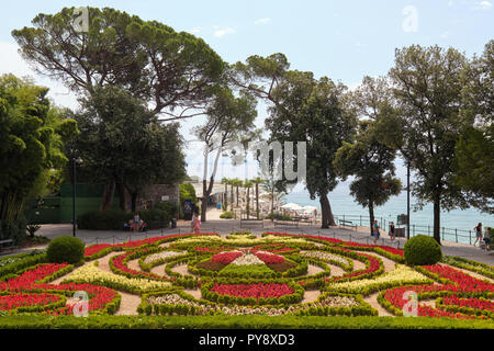 Garden in front of Croatian Museum of Tourism in Opatija, Istria, Croatia - Stock Photo