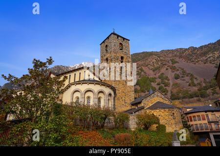 Sant Esteve church in Andorra la Vella at Pyrenees - Stock Photo