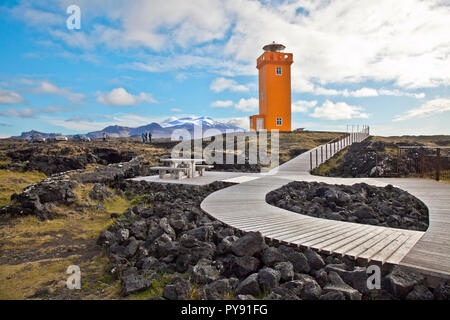 Lighthouse in Iceland - Stock Photo