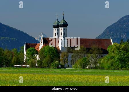 Benediktbeuern Abbey (Kloster Benediktbeuern),  Upper Bavaria, Germany - Stock Photo
