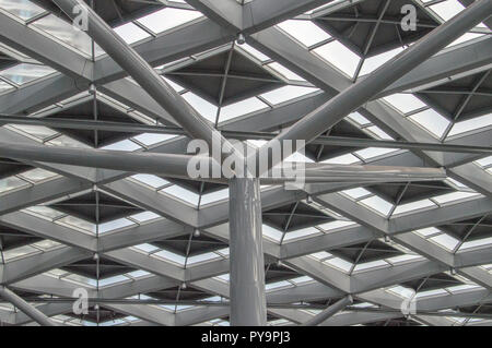 Roof Of The Den Haag Central Station The Netherlands 2018 - Stock Photo
