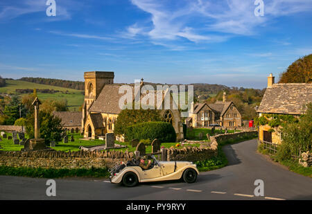 Village of Snowshill,Cotswolds,Gloucestershire,England,Europe - Stock Photo