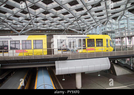 Tram Inside The Central Station At Den Haag The Netherlands 2018 - Stock Photo