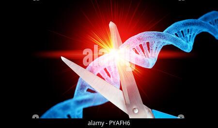 CRISPR genetic technology - Stock Photo