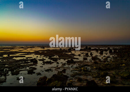 Beautiful tropical seascape. Sunset on Red Sea. Egypt