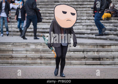 LONDON, UK - OCTOBER 26: Cosplayer dressed as a Raiden from