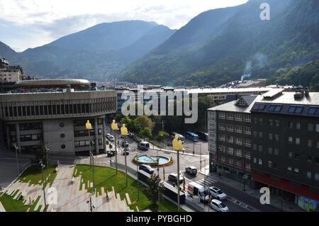 Andorra La Vella, Andorra. 18th Sep, 2018. Andorra la Vella, capital of Andorra, located in the Pyrenees, recorded on 18.09.2018 | usage worldwide Credit: dpa/Alamy Live News - Stock Photo