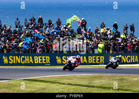 Melbourne, Australia. 27 October 2018.: The views of Phillip Island during the 2018 Michelin Australian Motorcycle Grand Prix , Australia on October 27 2018. Credit: Dave Hewison Sports/Alamy Live News - Stock Photo