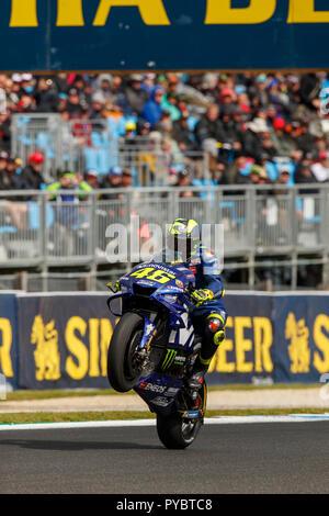 Melbourne, Australia. 27 October, 2018. Phillip Island, Australia. Free Practice. Valentino Rossi, Movistar Yamaha MotoGP Team. Credit: Russell Hunter/Alamy Live News - Stock Photo