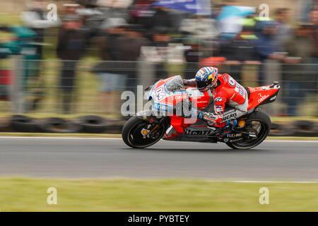Melbourne, Australia. 27 October, 2018. Phillip Island, Australia. Qualifying. Andrea Dovizioso, Ducati MotoGP Team. Dovizioso finished 9th fastest overall for the day. Credit: Russell Hunter/Alamy Live News - Stock Photo