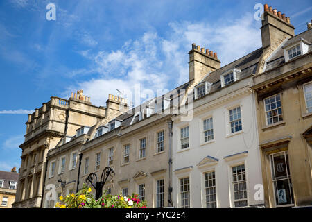 Roof-line at Milsom Street, Bath, Somerset - Stock Photo