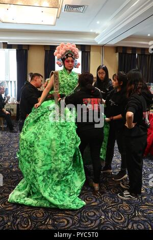 She Guang Hu Couture Show backstage - Stock Photo