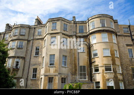 The rear view of the elegant ring of terraced houses, The Circus, designed by John Wood the Elder, Bath Somerset. - Stock Photo