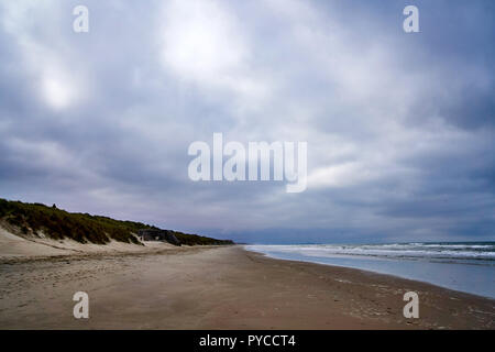 Bray Dunes at Dunkirk France, where many Allied soldiers waited for a boat home in 1940 - Stock Photo
