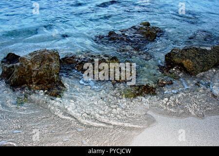 water over rocks - Stock Photo