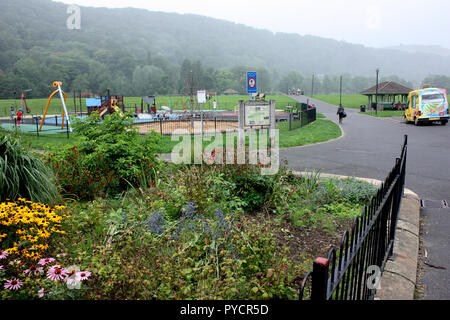 The Centre Vale park in Todmorden, West Yorkshire, England - Stock Photo