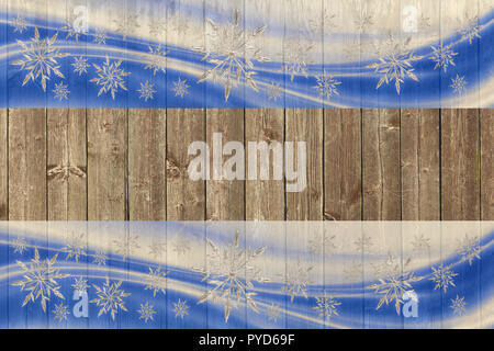 wooden christmas and new year background - Stock Photo