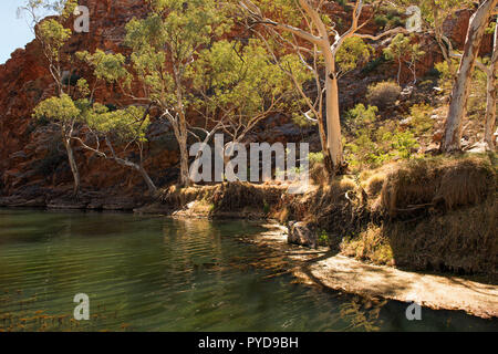 Ellery Creek Big Hole, MacDonnell Ranges, Northern Territory, Australia - Stock Photo