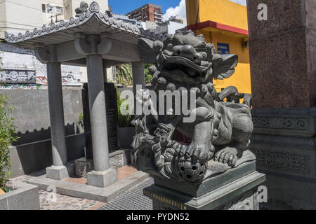 Detail of a dragon in chinatown in  Buenos Aires, Argentina.Sculpture - Stock Photo