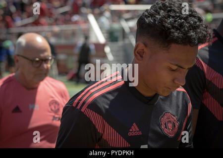 Manchester United Youth Player Demetri Mitchell - Stock Photo