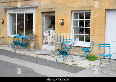 The Old Stocks Inn, Stow on the Wold, Gloucestershire, Cotswolds, England - Stock Photo