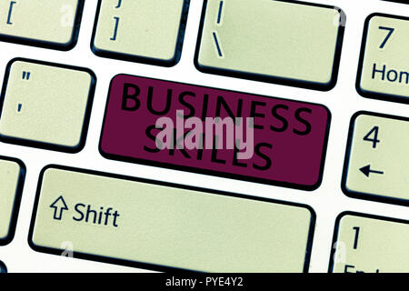 Word writing text Business Skills. Business concept for An ability to acquire systematic effort of job functions. - Stock Photo
