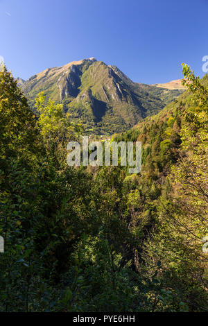 Mountains near Bagolino in northern Italy - Stock Photo