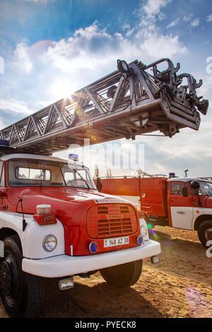 Czech fire brigade car - firefighters - Hasiči ČR / hasičské auto / integrovaný záchranný systém IZS - Stock Photo