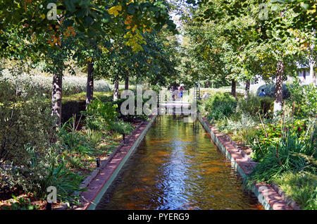 Paris France, Promenade Plantée, linear garden on a disused railway viaduct, with dramatic planting and views and freedom from traffic for long walks - Stock Photo