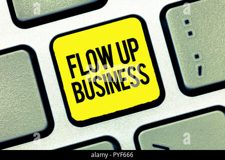 Text sign showing Flow Up Business. Conceptual photo money that is moving in and out of your companies. - Stock Photo