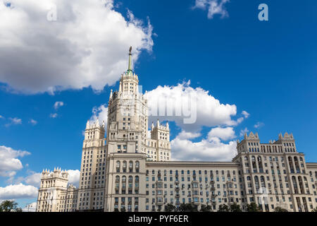 House on Kotelnicheskaya Embankment in Moscow. One of Stalin's skyscrapers, built in 1938-1952 - Stock Photo