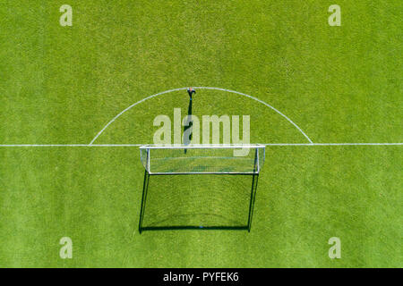 Horst, Netherlands - JULY 14, 2018: aerial view from the sport center of Horst of the Netherlands during the training of the PAOK team - Stock Photo