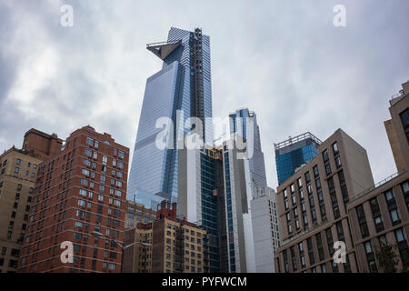 High-rise apartment buildings in the Hell's Kitchen neighborhood, Manhattan, New York City, NY. - Stock Photo