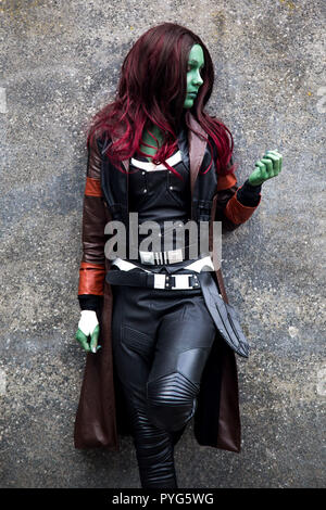 London, UK. 27th October 2018. MCM Comic Con at the Excel Centre, London on the 27th October 2018 Credit: Tom Rose/Alamy Live News - Stock Photo