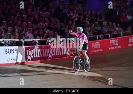 London, UK. 27th October 2018. Alexander Spratt (GBR) during Six Day London 2018 at Lee Valley Velopark, Queen Elizabeth Olympic Park on Saturday, 27 October 2018. LONDON ENGLAND.  (Editorial use only, license required for commercial use. No use in betting, games or a single club/league/player publications.) - Stock Photo