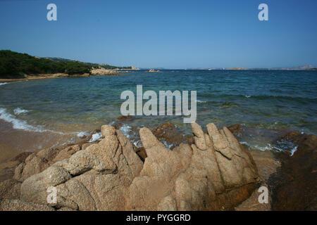 Liscia vacca beach, costa smeralda, Sardinia, italy - Stock Photo