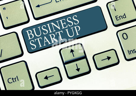 Conceptual hand writing showing Business Start Up. Business photo showcasing Putting up new commerce venture Fresh Undertaking. - Stock Photo