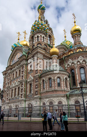 Church on Spilled Blood in St. Petersburg, Russia - Stock Photo