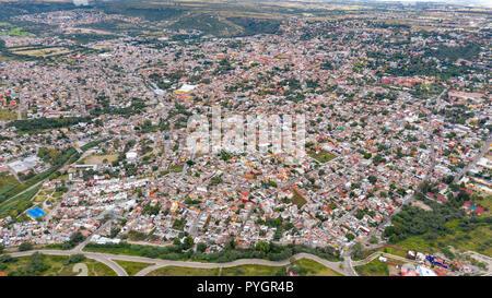 Aerial view of San Miguel de Allende, Mexico - Stock Photo