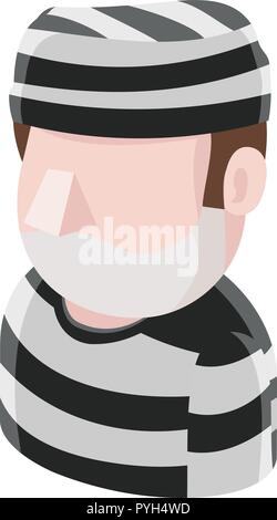 Prisoner Man Avatar People Icon - Stock Photo
