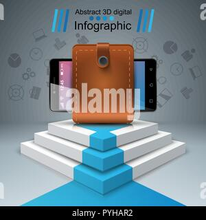 Digital gadget, smartphone - business infographic. - Stock Photo