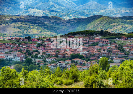 BULGARIA. Marchevo is one of the many pittoresque villages in the Rhodope mountains in souihern Bulgaria. - Stock Photo