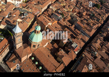 Italy, Bologna, 10/22/2018: view of Bologna city from above - Stock Photo